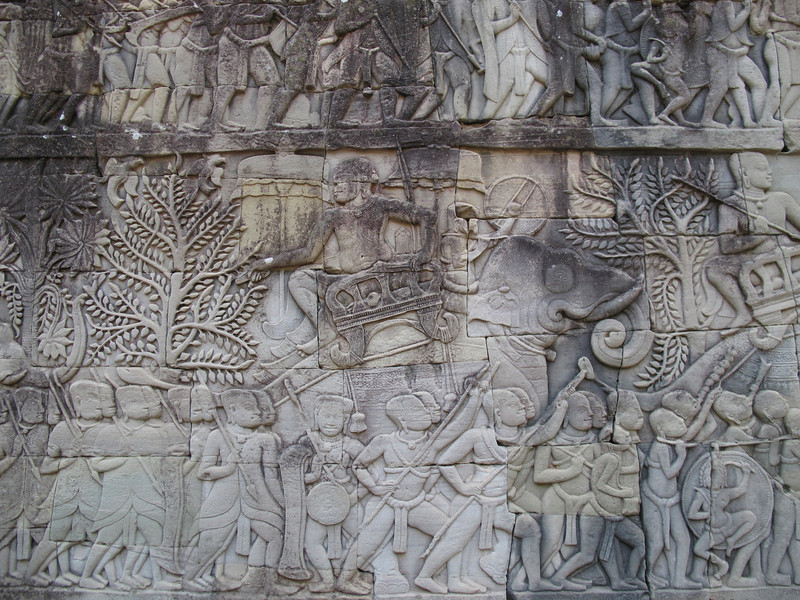 Engraved Details at Angkor Thom