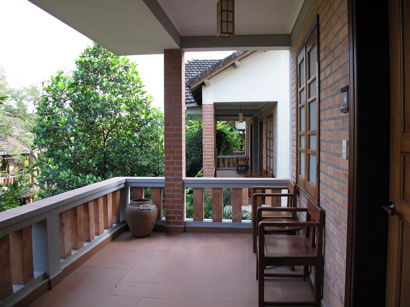 Balcony at the Pilgramage Village Hotel