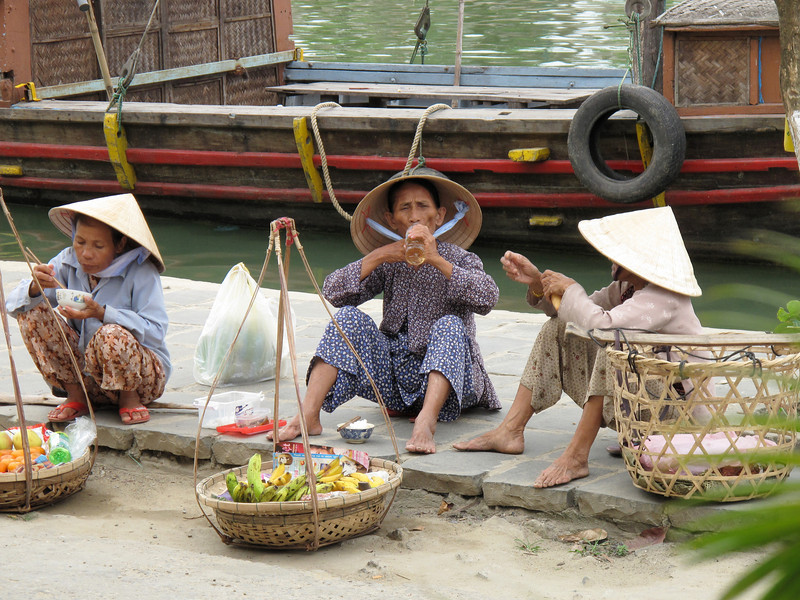 Selling on the Streets of Hoi An - Vietnam