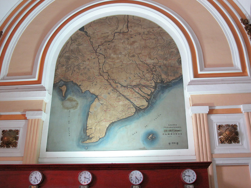 Area Map in the Post Office