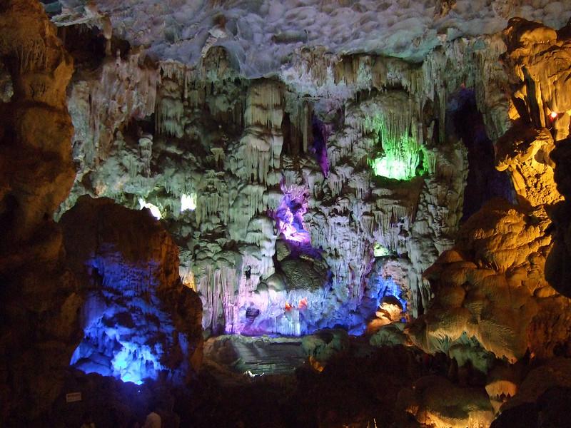 Inside the Caves at Ha Long Bay