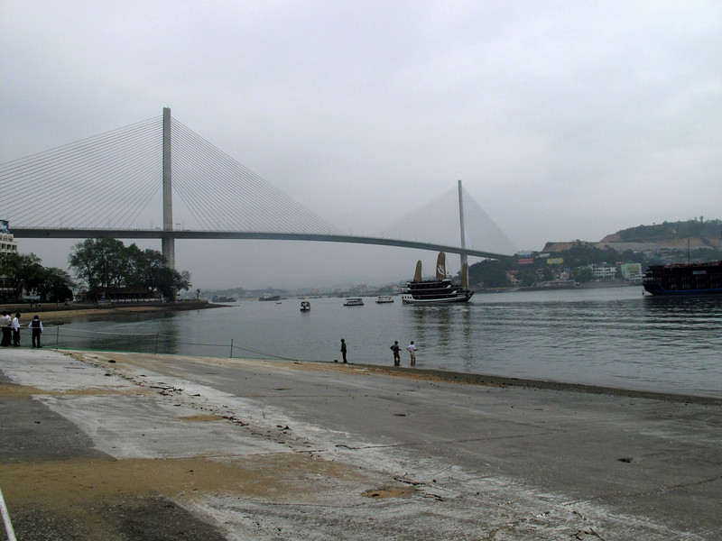 The bridge across Ha Long Bay