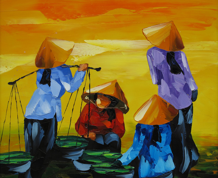Art Work on Display in Hoi An Old Town