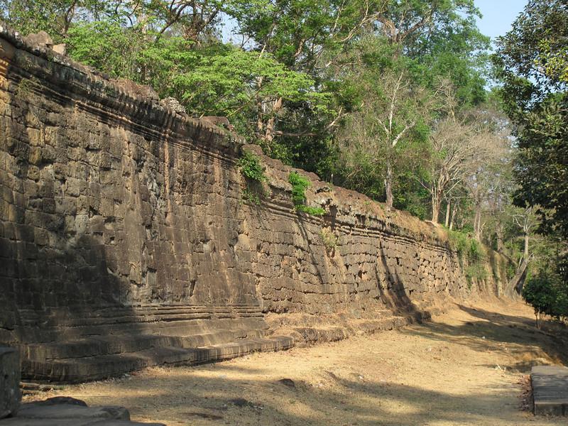 Wall at Angkor Thom