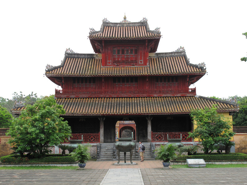 Temple in the Hung Mieu Compound in Hue Vietnam