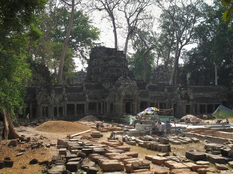 Restoration of Ta Phrom