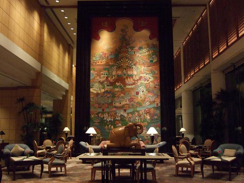 Lobby of the Century Park Hotel in Bangkok