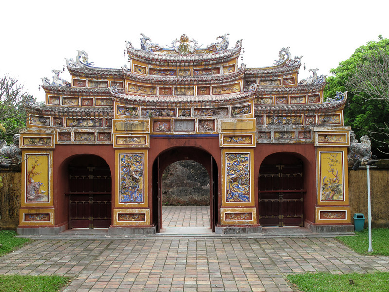 In the Hung Mieu Compound in Hue Vietnam