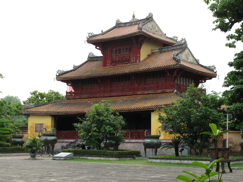 Temple inside the Hung Mieu Compound in Hue