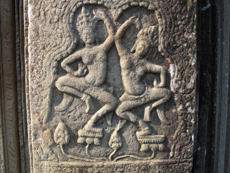 Column Detail at Angkor Thom