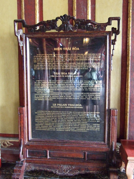 Thai Hoa Palace Information
