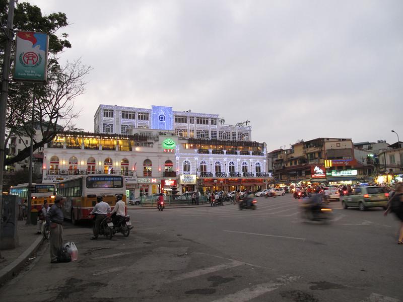 Walking into thr Hanoi Silk District at Dusk