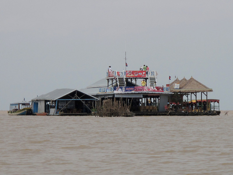 Resturant and Party Boat on the Tonle Sap Lake Floating Village - Cambodia