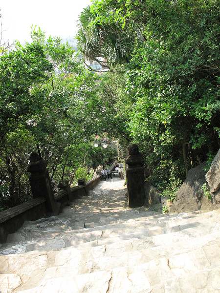 and more stairs to the Xa Loi Temple at Marble Mountain