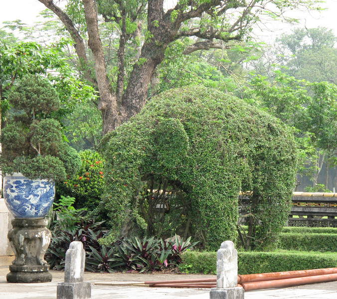 Elephant Sculpture on the Imperial Palace Grounds
