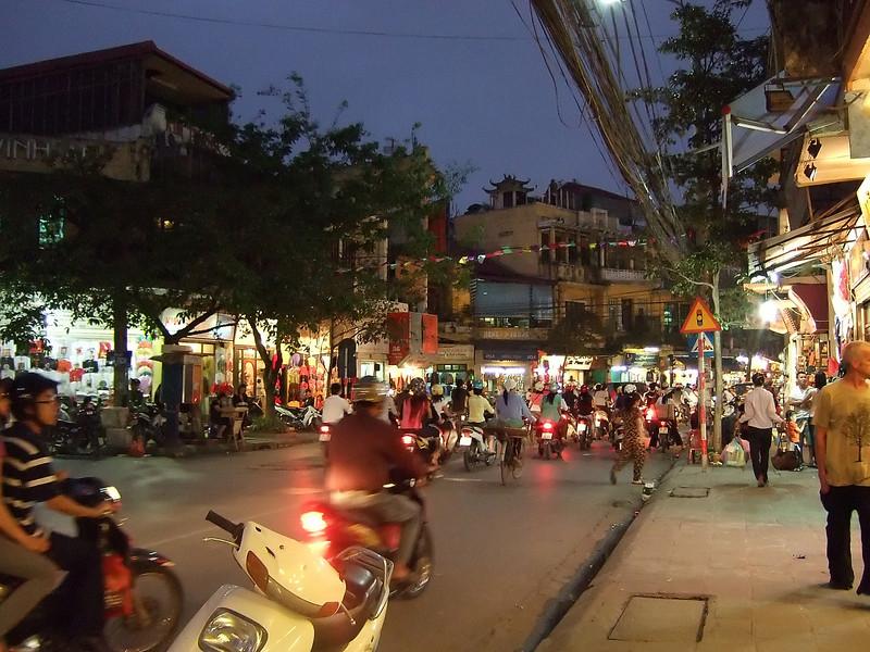 Hanoi at Night in the Silk Zone