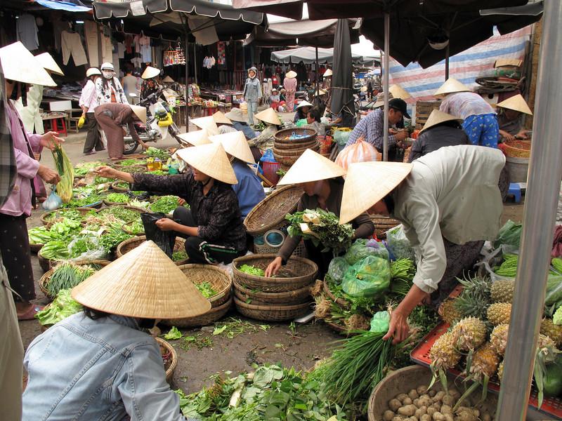 The Fresh Produce Market In Hoi An