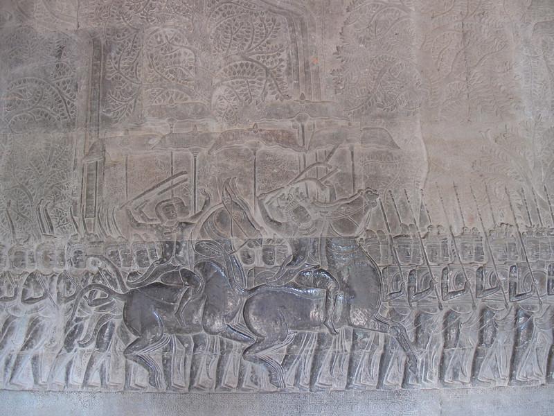 Wall engravings at Angkor Wat