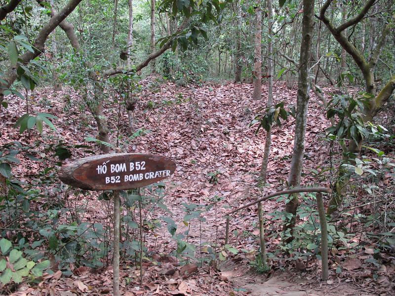 Cu Chi Tunnel Area B52 Bomb Crater