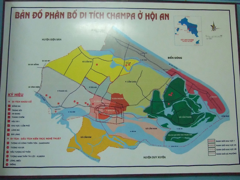 Map of the Old Twon of Hoi An