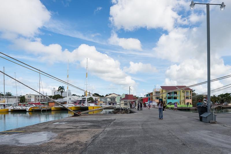 Walking into town, St. John's, Antigua.