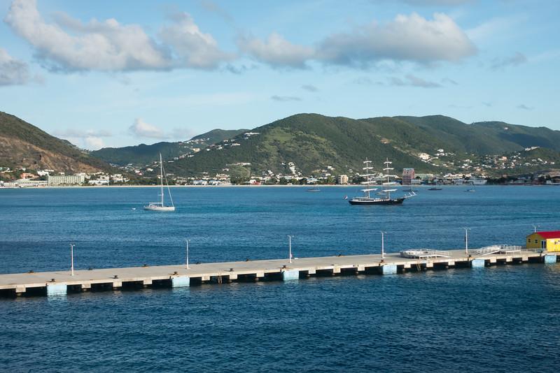 Arrival in port at Philipsburg, St. Maarten.
