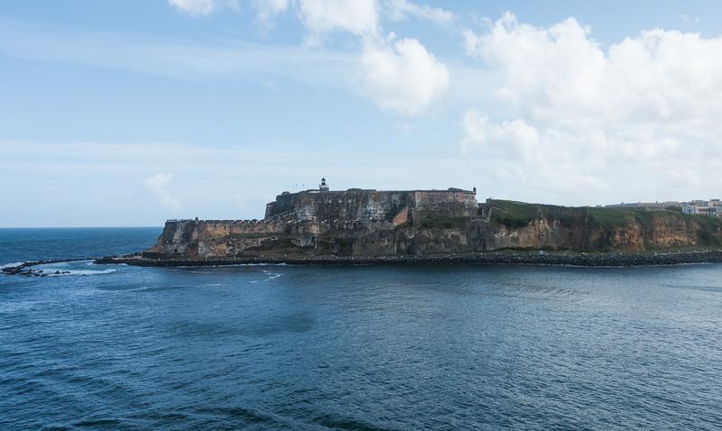 Castillo San Felipe del Morro at the Puerto Rico Harbor entrance.