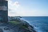 Coastline view from San Cristobal Fort in San Juan.