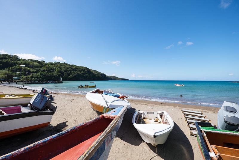 Anse la Raye fishing village, St. Lucia.