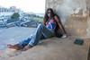 Pla relaxing on the San Cristobal Fort in San Juan.