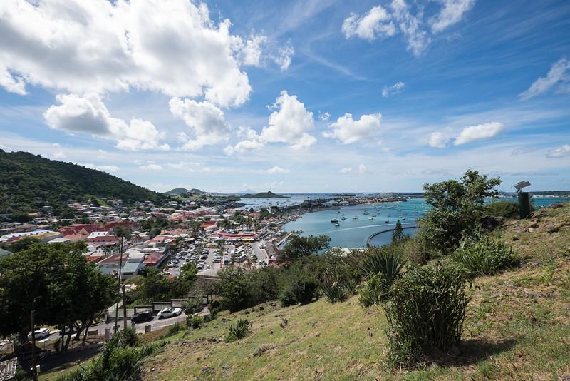 View of Marina Fort Louis from the Fort in Marigot, St. Maarten