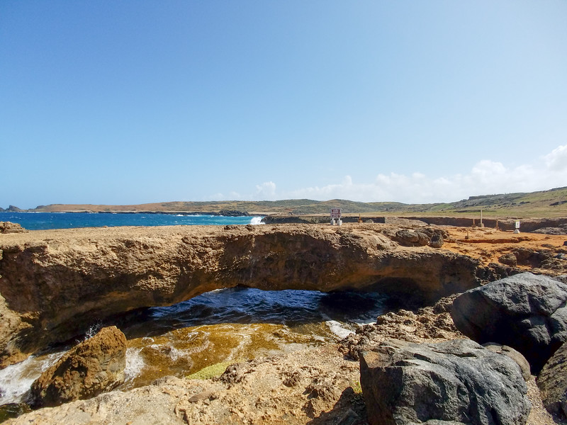 The remaining Natural Bridge at Natural Bridge Aruba.