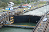 Entering the first Gatun Lock at the Panama Canal.