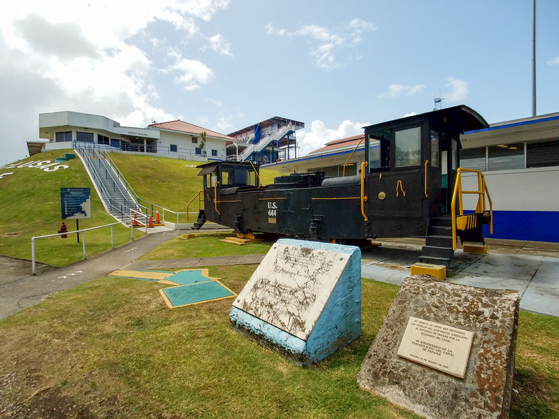 1914 Tug on display at the Gatun Locks.