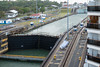 View of the first and second set of Gatun Locks.