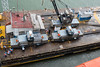 Tugs that will guide the Zuidendam through the Gatun Locks.