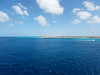Approaching Aruba on the Holland America Zuiderdam.