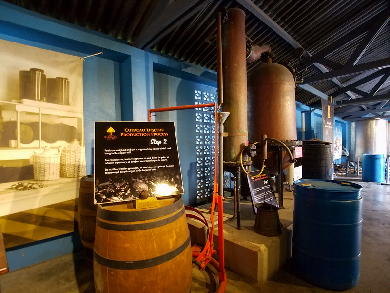 Another view of the inside of the Curacao Liquor Distillery.