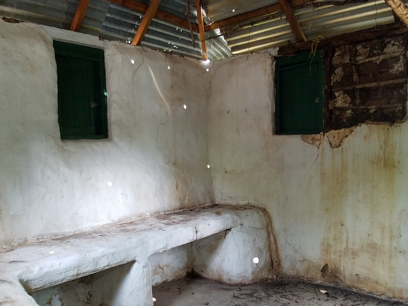 Inside the slave home at the Curacao Museum.