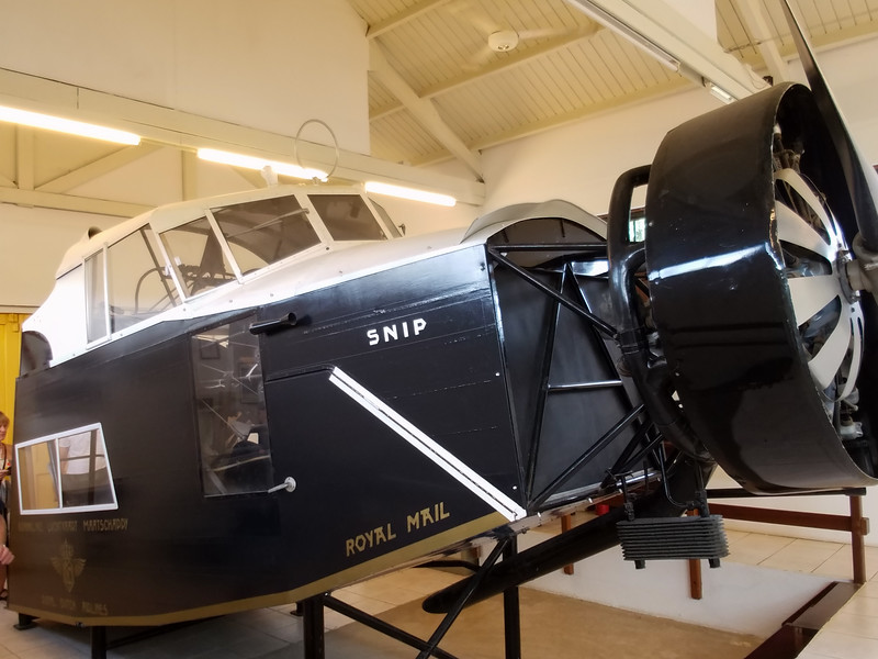 Part of an airplane on display at the Curacao Museum. It was used for mail delivery.