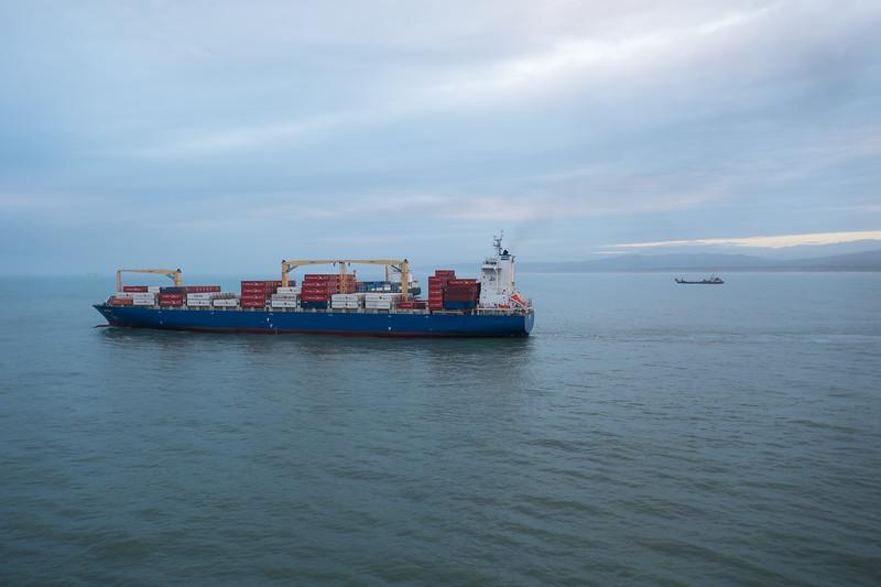 Passing shipping outside San Jose Costa Rica.