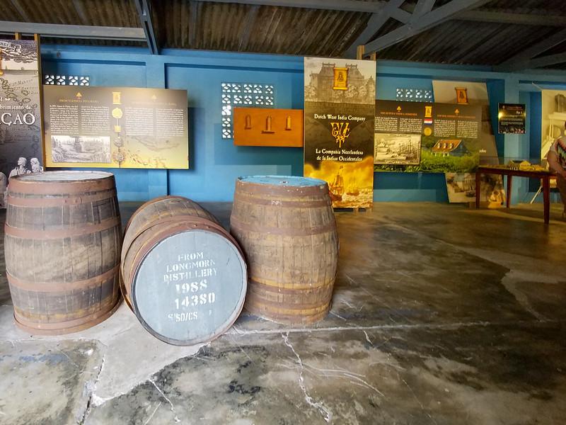 Inside the Curacao Liquor Distillery.