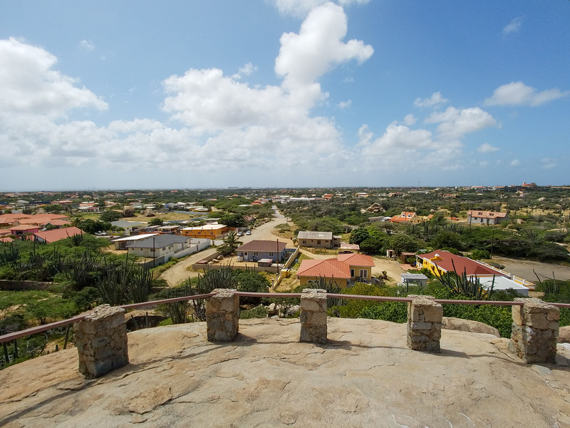 Aruba from the top of the Casibari Rock Formations.