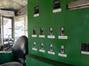 Electric control panel in a newer but still very old Panama Canal tug.