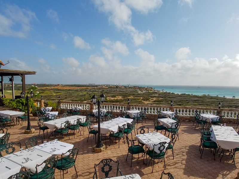 Upscale resturant at the California Lighthouse on Aruba.