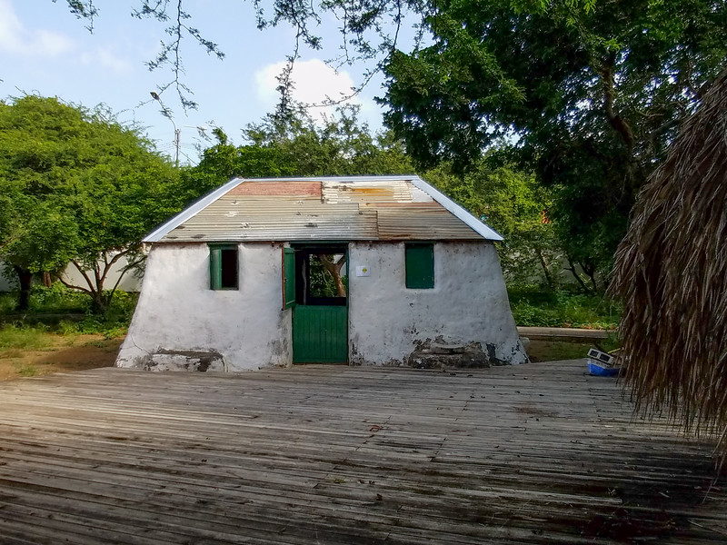 An early slaves home at the Curacao Museum.