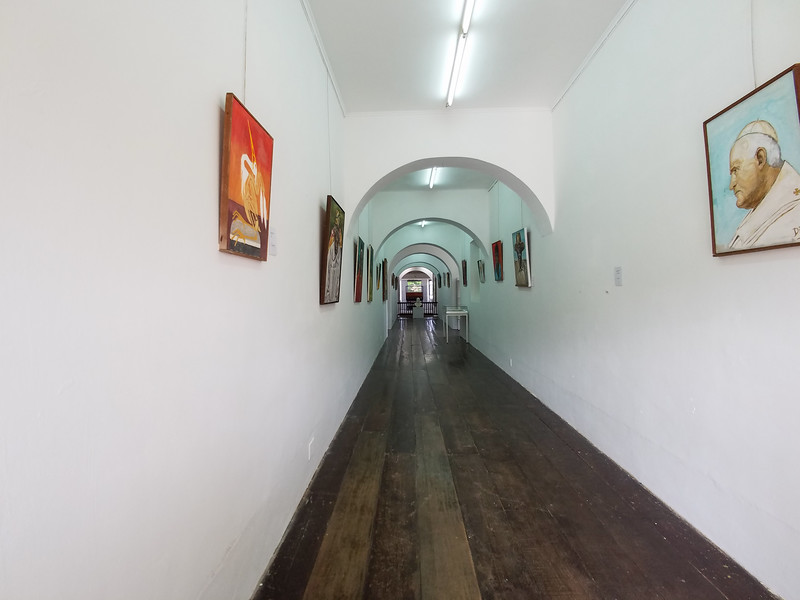 Looking down a hallway in the Curacao Museum on Aruba.