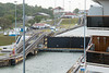 Approaching the first Gatun Lock.