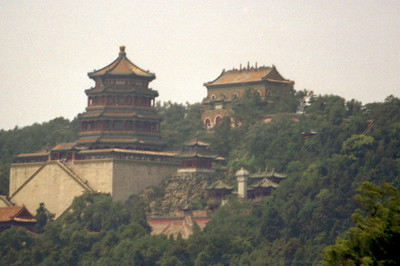 The Summer Palace in the Haidian district of Beijing.  Originally constructed in 1750 and reconstructed in the late 1800s it is the largest imperial park in the world. ... August 5, 2004 ... Copyright Robert Page III