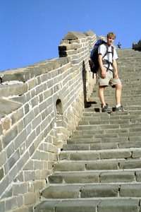 Rob Page on the Great Wall of China at Simatai. ... August 3, 2004 ... Copyright Robert Page III
